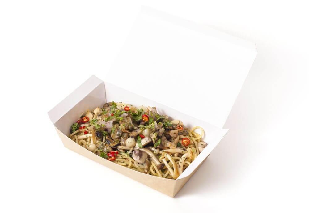 海鮮雜菌橄欖油芫茜蒜片辣椒意粉
