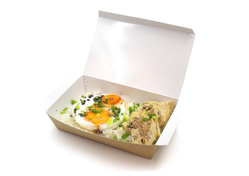 越南扎肉煎蛋飯配甜豉油汁